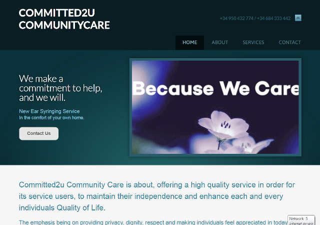 Commited 2 u Community Care, for all your care needs in Almeria Spain