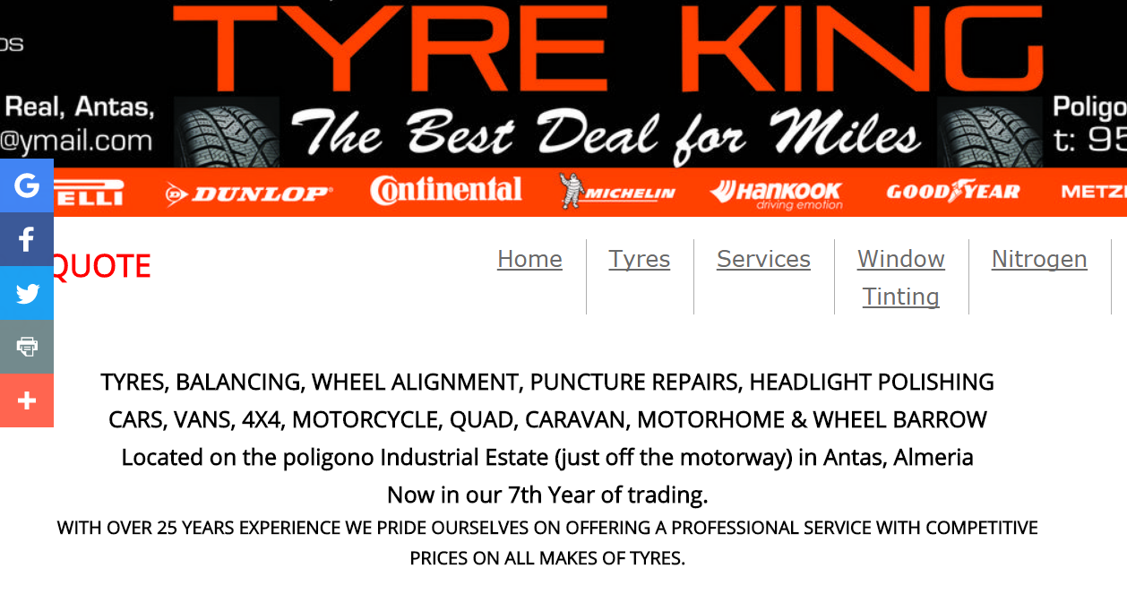 Tyre King in Antas Real Industrial Estate